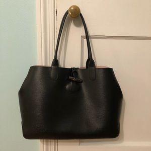 Longchamp Roseau Reversible Leather Shoulder Tote